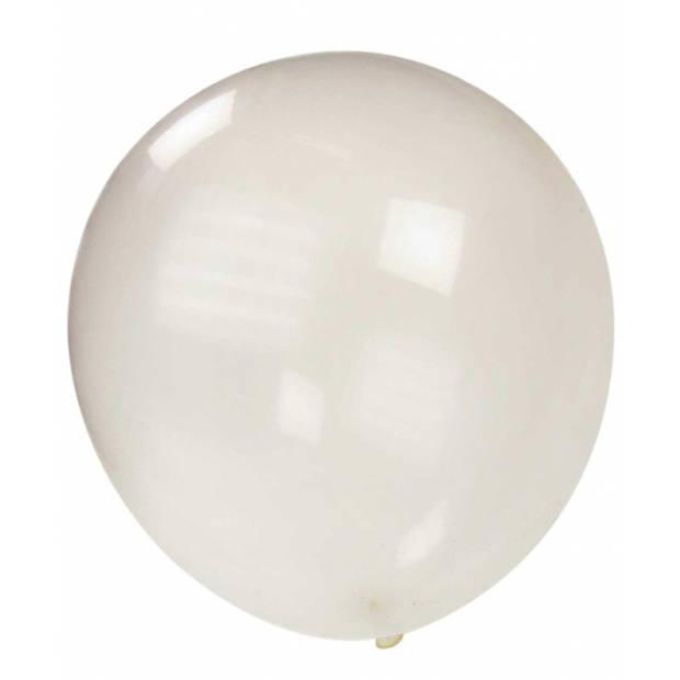 Mega ballon transparant metallic 90 cm - Feestartikelen mega grote ballonnen