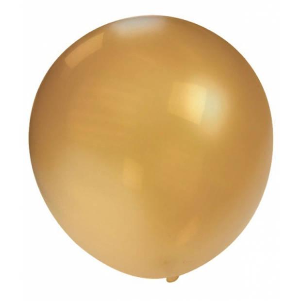 Mega ballon goud metallic 90 cm
