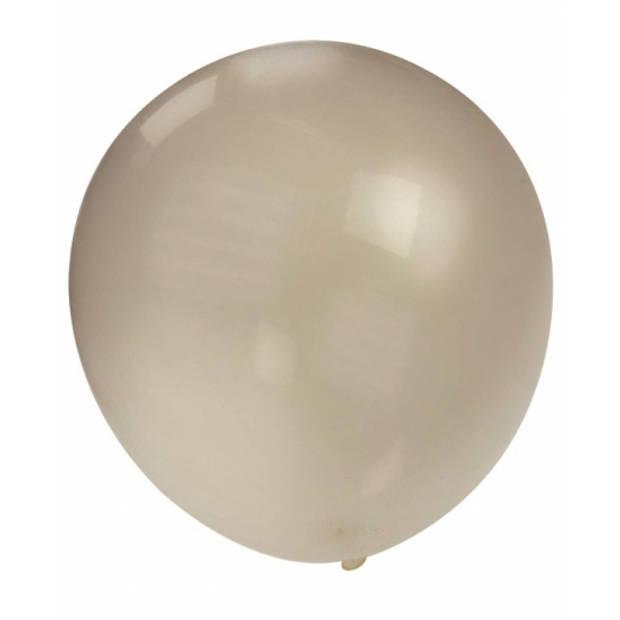 Mega ballon zilver metallic 90 cm