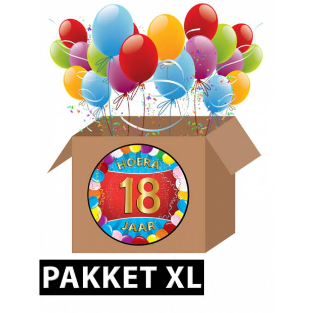 18 jaar versiering voordeel pakket XL
