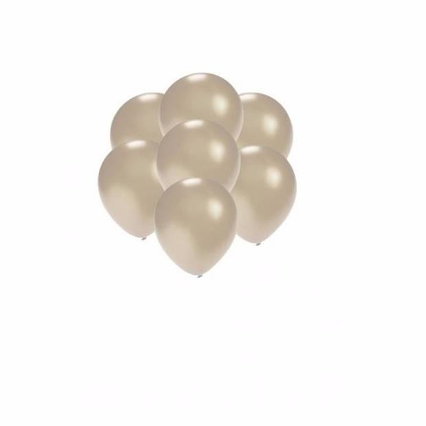 Kleine ballonnen zilver metallic 100 stuks