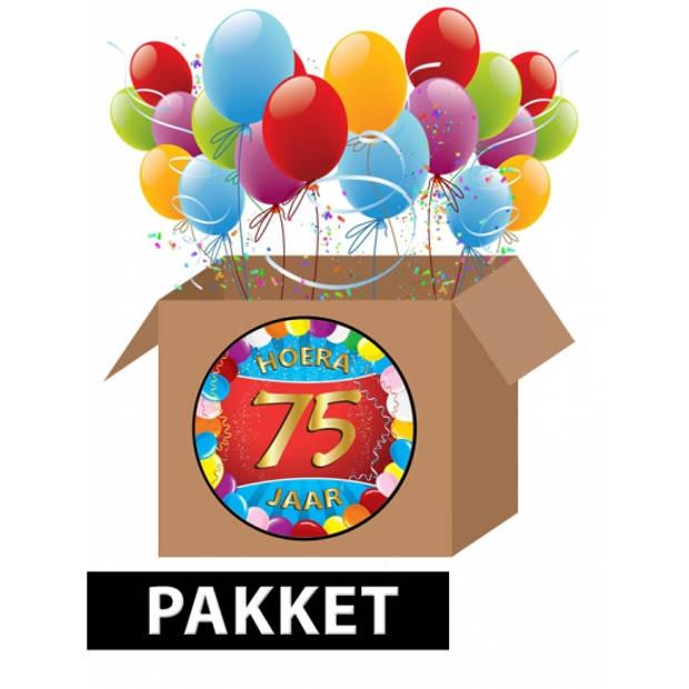 75 jaar versiering voordeel pakket