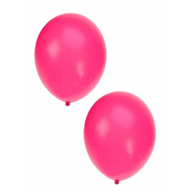 Neon roze ballonnen 10x stuks 27 cm - Feestartikelen/versieringen