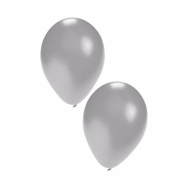 Zilveren ballonnen 10 stuks