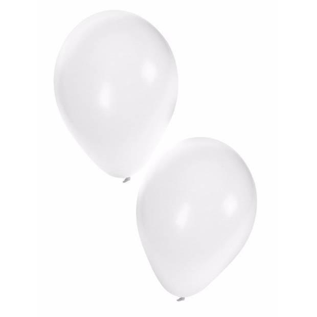 Witte party ballonnen 10x stuks van 27 cm - Feestartikelen en versiering
