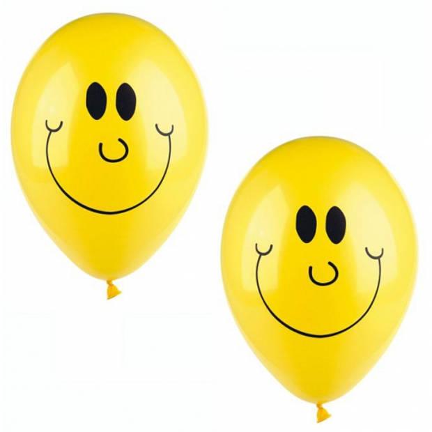 Smiley ballonnen 10 stuks