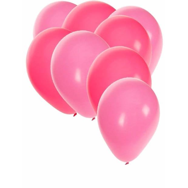 30x stuks party ballonnen - 27 cm - roze / lichtroze - Feestartikelen/versiering