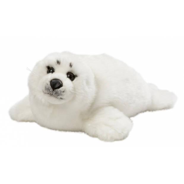 Witte knuffel zeehond 40 cm