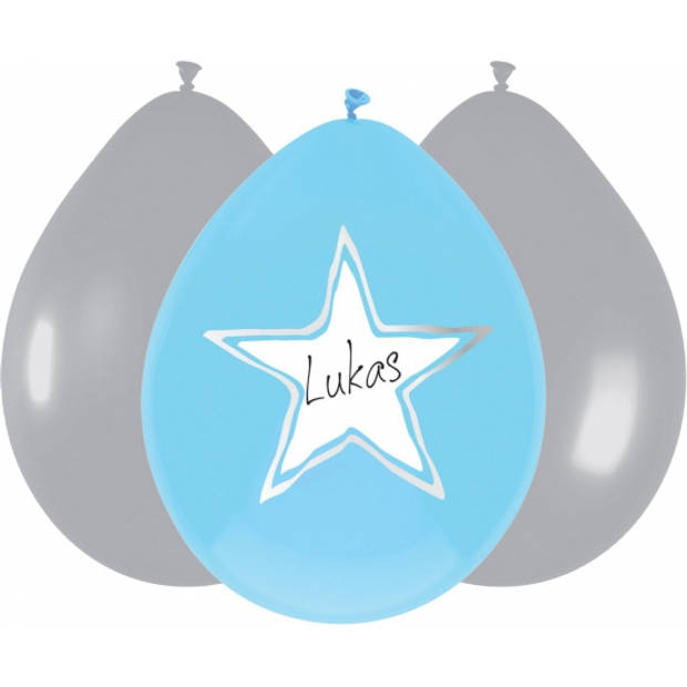 6x stuks beschrijfbare ballonnen geboorte jongen - Feestartikelen en versiering