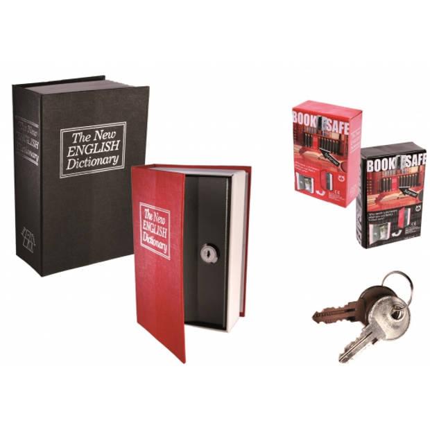 Geheim bewaarboek / kluis in Engels woordenboek - metaal rood