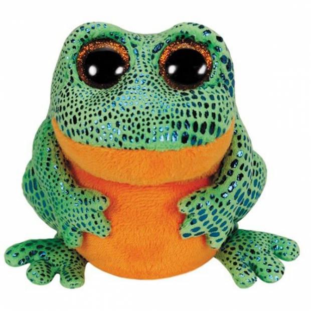 Ty Beanie knuffel kikker 15 cm - Dieren speelgoed kikkers