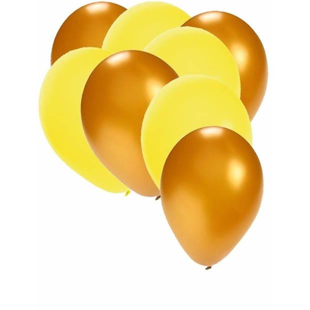 30x ballonnen - 27 cm - goud / gele versiering