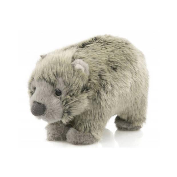 Pluche baby Wombat knuffels van 15 cm - Buideldieren knuffelbeesten