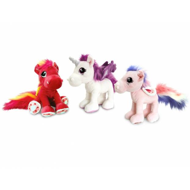 Keel Toys pluche paard knuffel lichtroze 30 cm