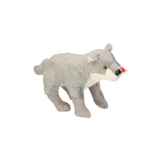Pluche wolf knuffel van 25 cm - wolven speelgoed knuffels