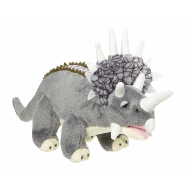 Pluche dinosaurussen Triceratops knuffels 28 cm - Kinder dinos speelgoed knuffelbeesten