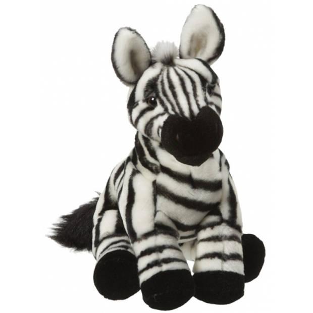 Pluche zebra knuffel van 27 cm - zebra speelgoed knuffels artikelen