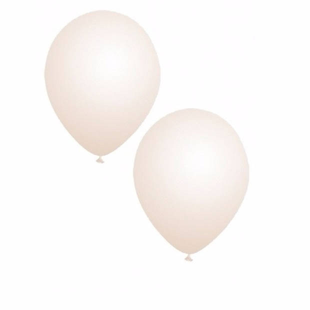 100x stuks Transparante party ballonnen 30 cm - Verjaardag feestartikelen