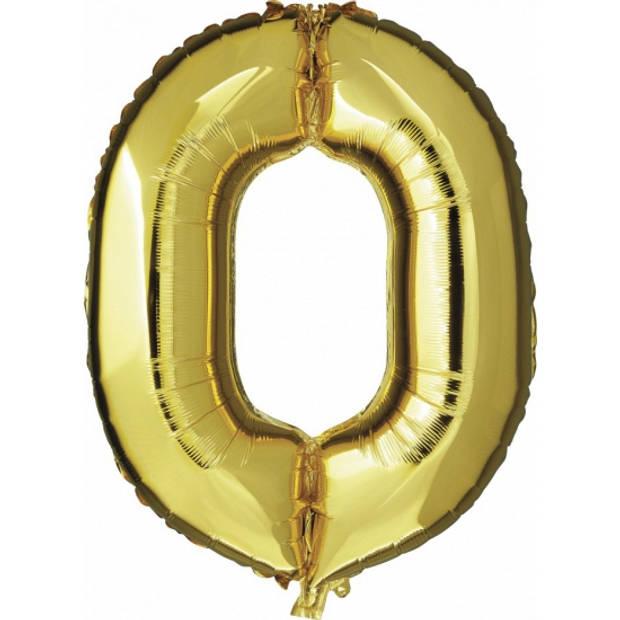 Cijfer nul 0 ballon goud