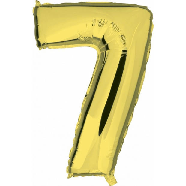 Cijfer 7 ballon goud