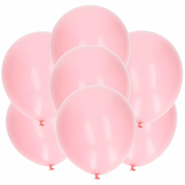15x stuks lichtroze latex ballonnen van 27 cm - Party verjaardag feestartikelen en versiering