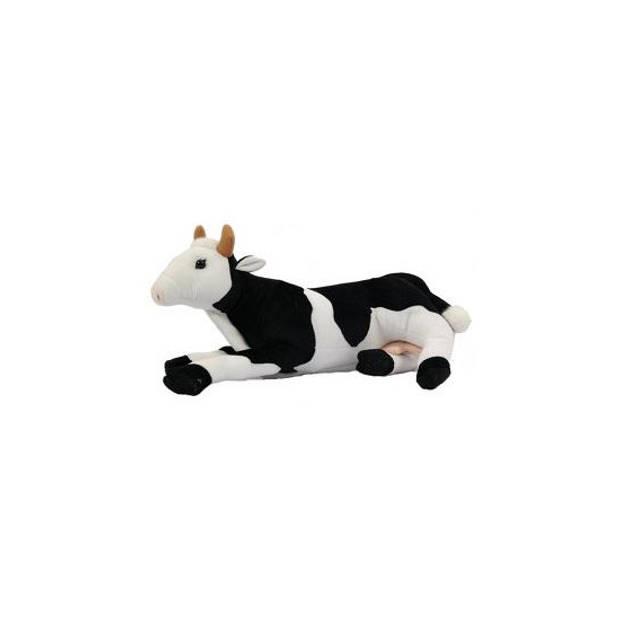 Pluche liggende koeien knuffel van 35 cm - boerderijdieren knnuffelbeesten