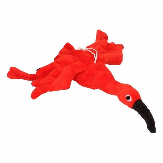 Pluche rode ibis vogel knuffel 34 cm