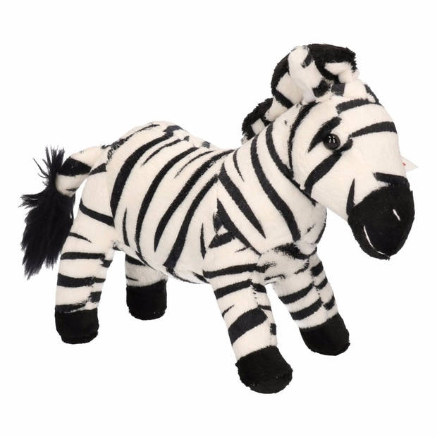 Pluche zebra knuffel 18 cm