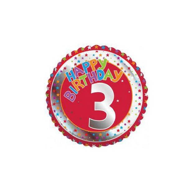 Happy Birthday 3 jaar folie ballon