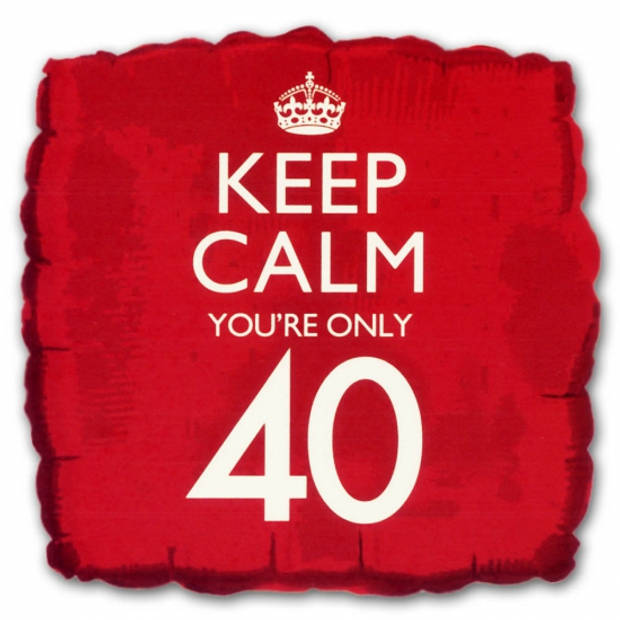 Keep Calm folie ballon 40