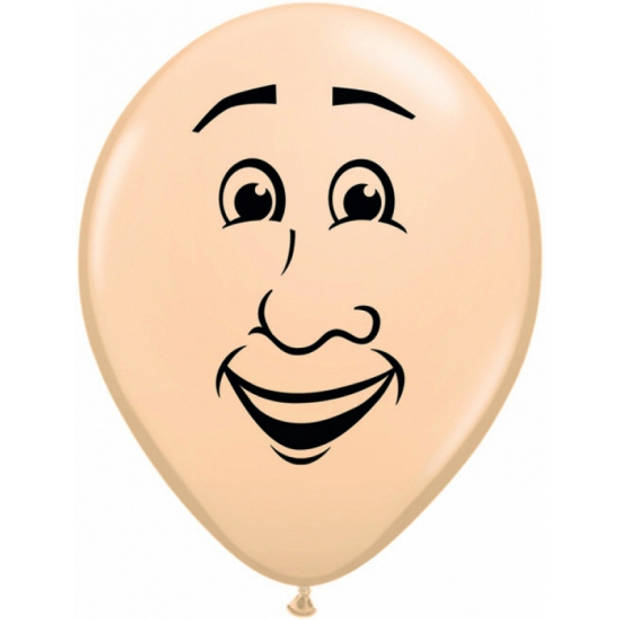 Kleine ballon mannen gezicht 13 cm