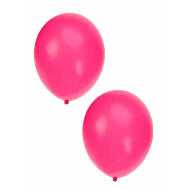 15x Neon roze ballonnen