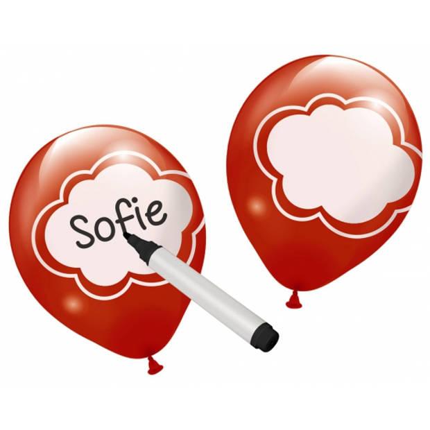 Beschrijfbare ballonnen 6 stuks
