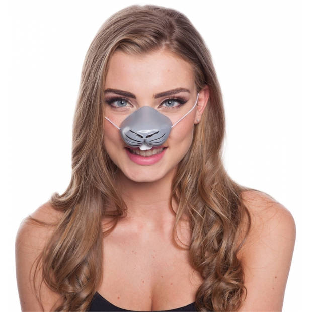 Konijn dierenneus masker voor volwassenen