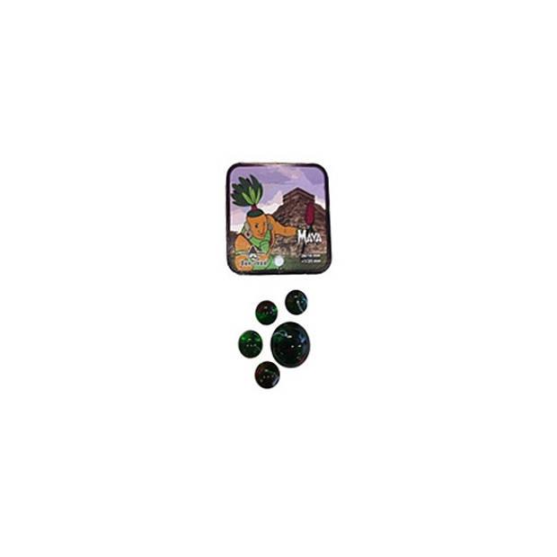 Maya kleintje knikkers 21 stuks - buitenspeelgoed - knikkeren