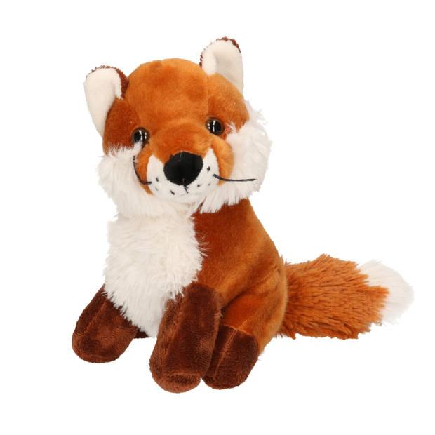 Pluche vos knuffel zittend 20 cm - Knuffeldier - Vossen Knuffel