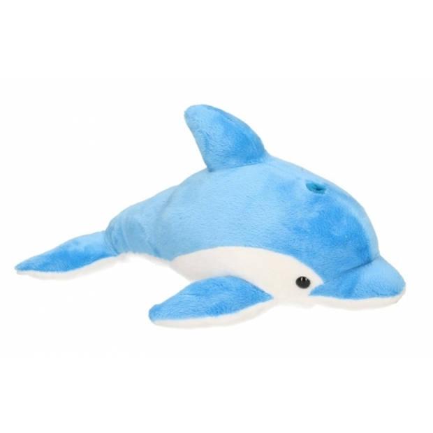 Pluche blauwe dolfijn knuffel 33 cm - Speelgoed knuffels uit de zee