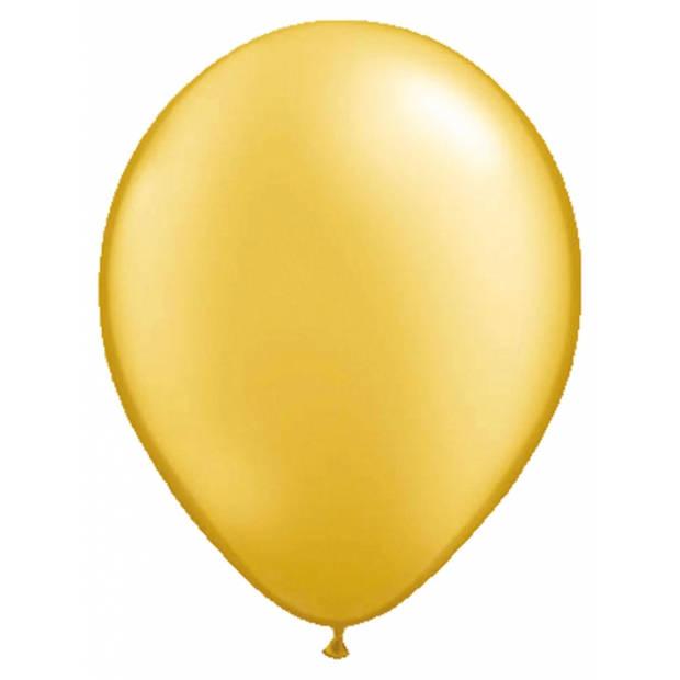 50x stuks Ballonnen metallic goud 30 cm - Feestartikelen versiering gouden bruiloft/huwelijk