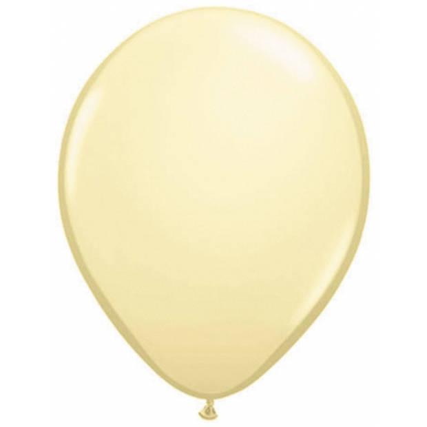 Ballonnen metallic ivoor 50 stuks