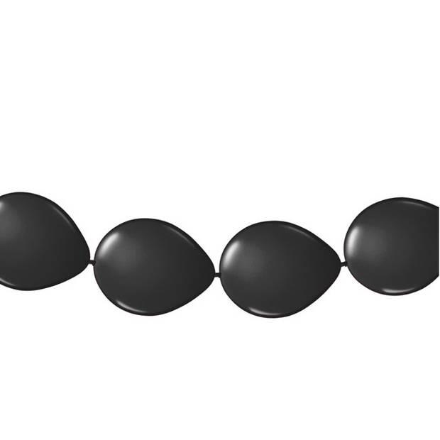 Slinger met zwarte ballonnen 3 meter - Feestartikelen/versiering zwart