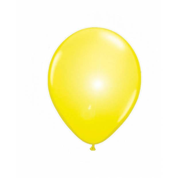 LED licht ballonnen geel 5 stuks