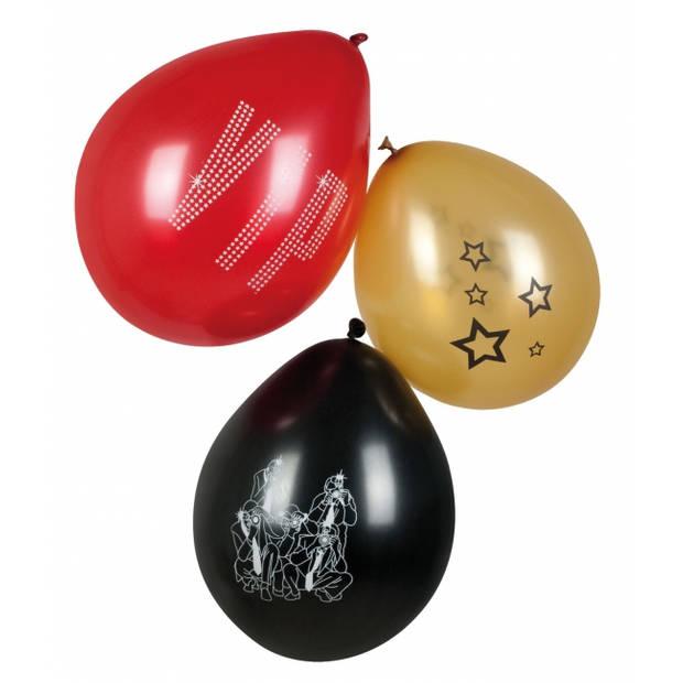 VIP thema party ballonnen 6x stuks - feestartikelen en versieringen
