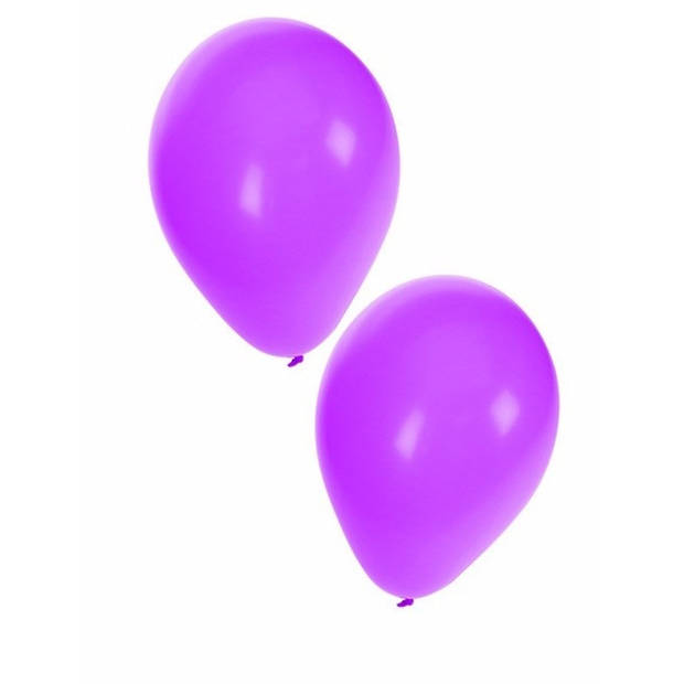15x Paarse ballonnen - 27 cm - ballon paars voor lucht of helium