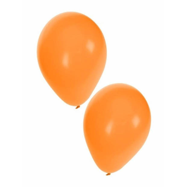 25x oranje ballonnen - 27 cm - ballon oranje voor helium of lucht