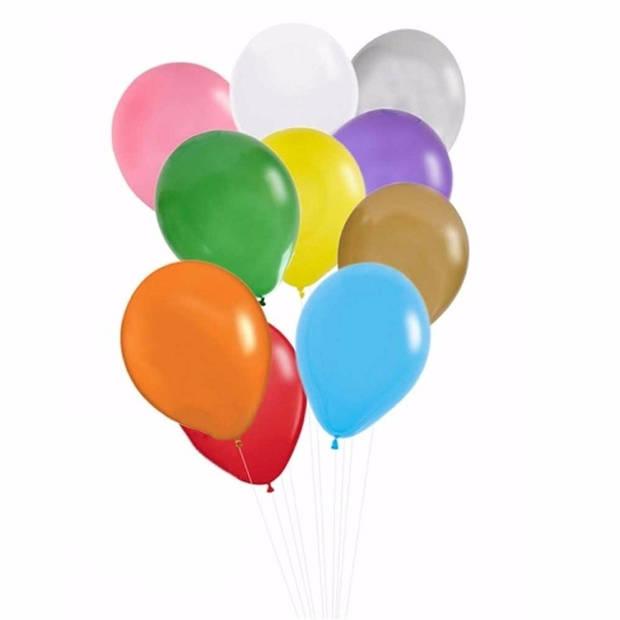 Gekleurde ballonnen 100 stuks