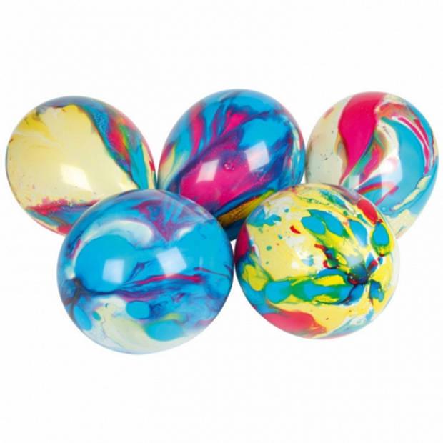 8x stuks Multicolor ballonnen 18 cm - Verjaardag feestartikelen en versiering