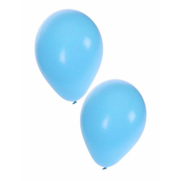 Lichtblauwe ballonnen 100 stuks