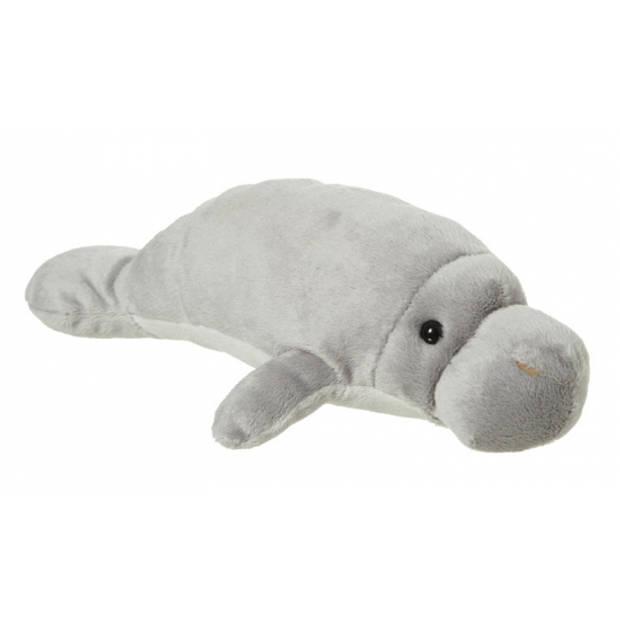 Pluche knuffeldier zee olifant grijs - Grijze knuffel zee olifant 30 cm
