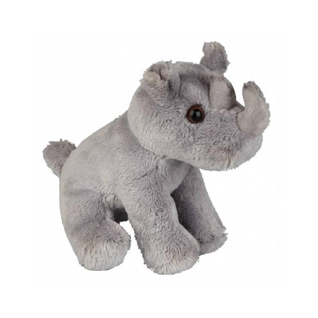 Zittende neushoorn knuffel 15 cm