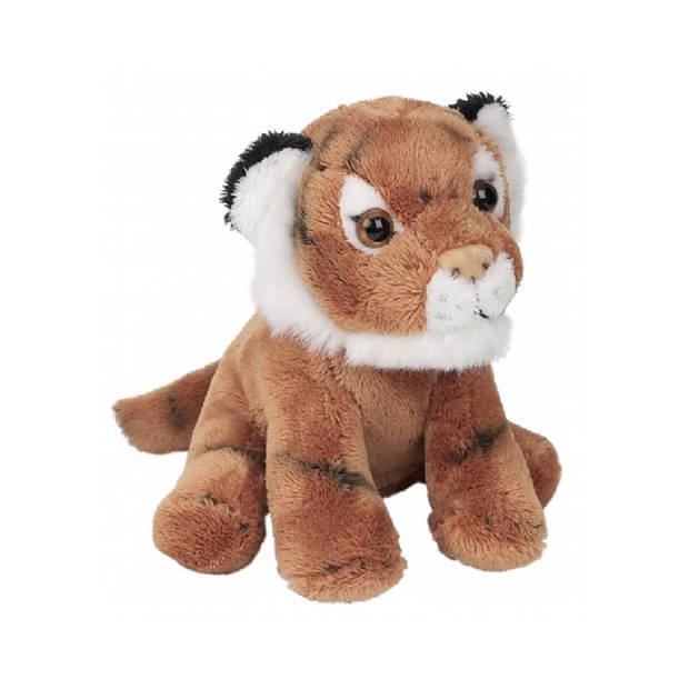 Zittende tijger knuffel 13 cm